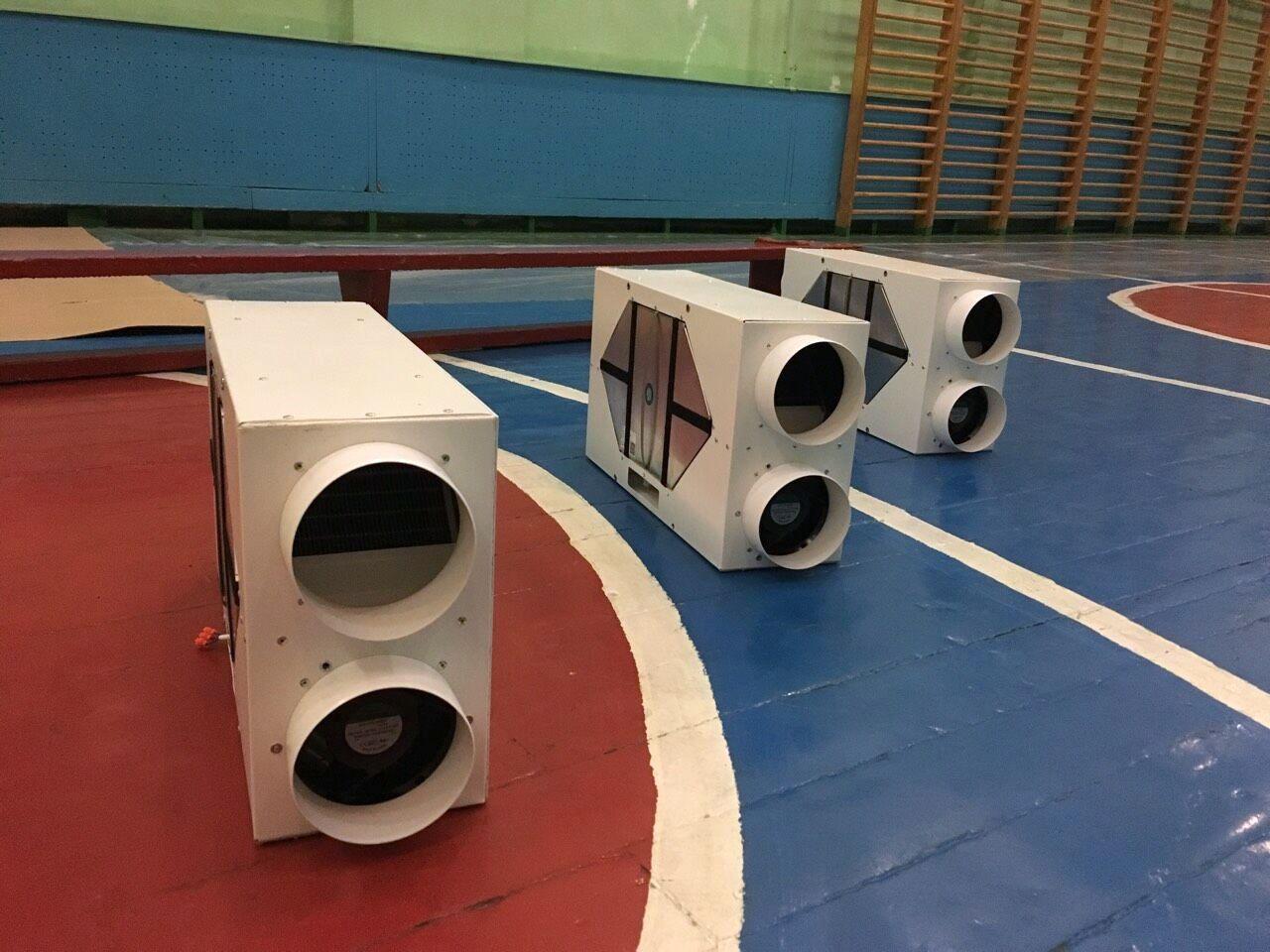 Монтаж рекуператора Ventoxx 350 в школьном спортзале